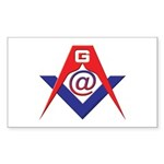 Web Savvy Masons Sticker (Rectangle 50 pk)