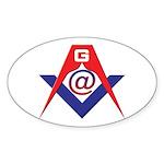 Web Savvy Masons Sticker (Oval 50 pk)
