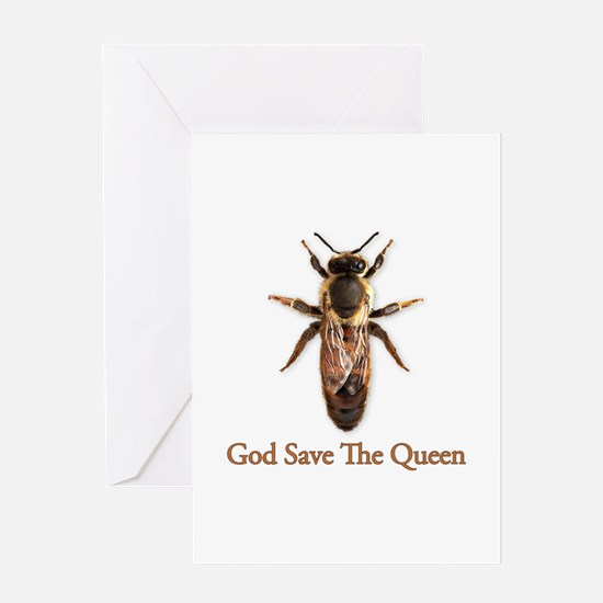 God Save the Queen (bee) Greeting Card