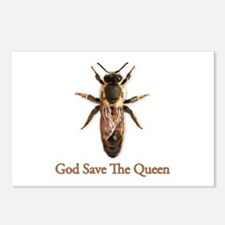 God Save the Queen (bee) Postcards (Package of 8)