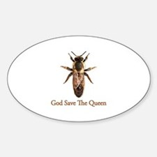 God Save the Queen (bee) Sticker (Oval)
