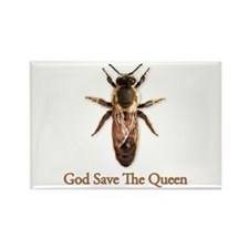 God Save the Queen (bee) Rectangle Magnet
