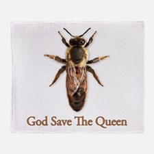 God Save the Queen (bee) Throw Blanket