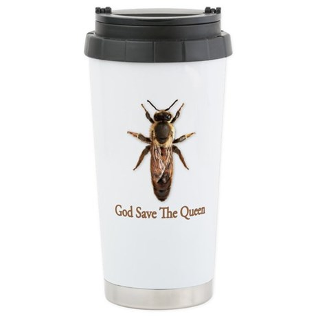 God Save the Queen (bee) Stainless Steel Travel Mu
