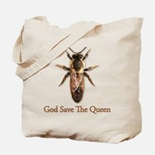 God Save the Queen (bee) Tote Bag