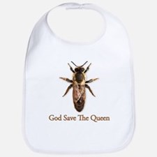 God Save the Queen (bee) Bib