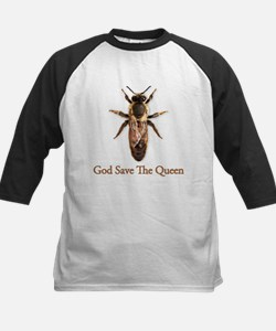 God Save the Queen (bee) Kids Baseball Jersey