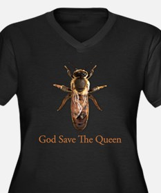 God Save the Queen (bee) Women's Plus Size V-Neck
