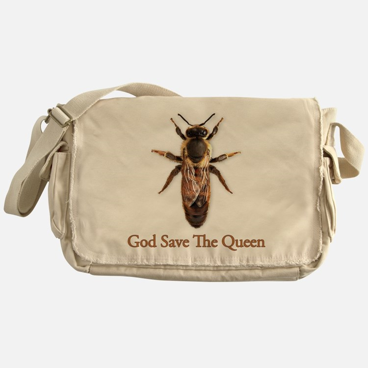 God Save the Queen (bee) Messenger Bag