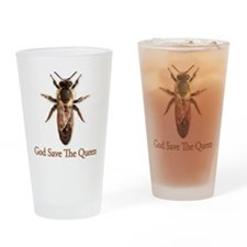 God Save the Queen (bee) Drinking Glass