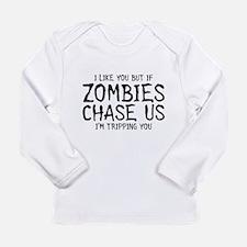 Zombie Chase Long Sleeve Infant T-Shirt