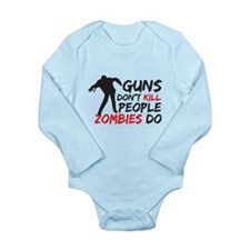 Guns and Zombies Long Sleeve Infant Bodysuit