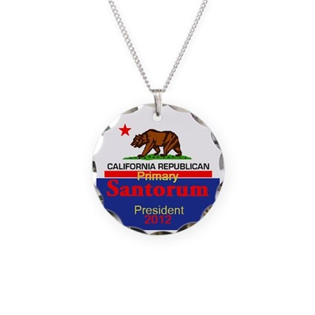Santorum CALIFORNIA Necklace Circle Charm
