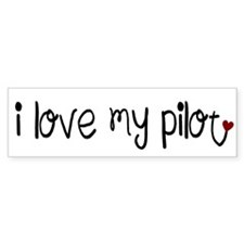 I Love My Pilot (white) (Bumper)