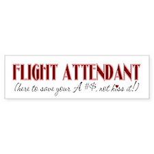 Flight Attendant here to...(r Bumper Car Sticker