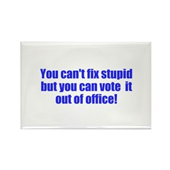 You can't fix stupid Rectangle Magnet (100 pack)