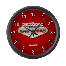 Addicted to Fabulous Las Vegas Large Wall Clock