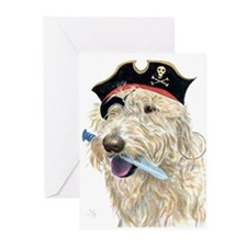 Pirate Cream Labradoodle Greeting Cards (Pk of 10)
