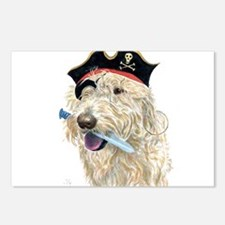 Pirate Cream Labradoodle Postcards (Package of 8)
