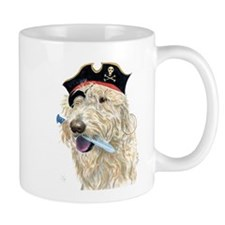 Pirate Cream Labradoodle Mug