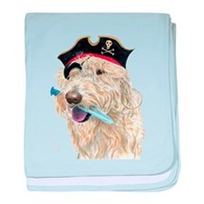 Pirate Cream Labradoodle baby blanket