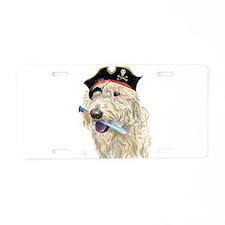 Pirate Cream Labradoodle Aluminum License Plate