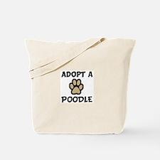 Adopt a POODLE Tote Bag