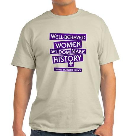 TShirtBlack_wellbehavedwomenpurple T-Shirt