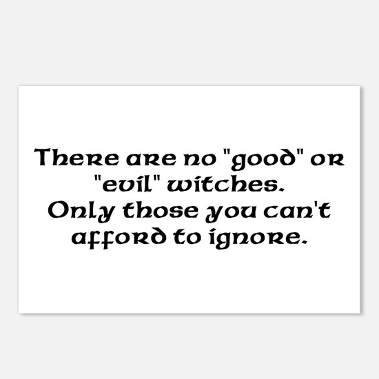 Good or evil witches Postcards (Package of 8)