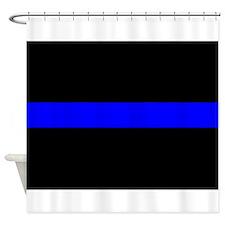 Thin Blue Line Shower Curtain