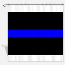 Thin Blue Line Shower Curtain