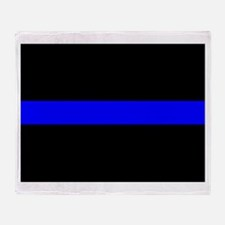 Thin Blue Line Throw Blanket