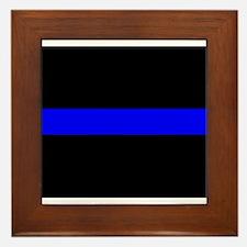 Thin Blue Line Framed Tile