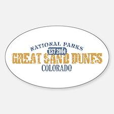 Great Sand Dunes Colorado Sticker (Oval)