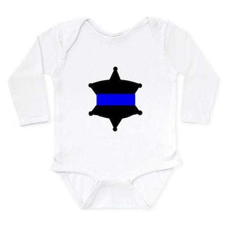 Thin Blue Line Long Sleeve Infant Bodysuit