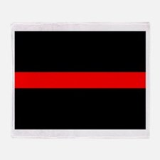 Firefighter Thin Red Line Throw Blanket