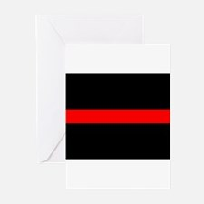 Firefighter Thin Red Line Greeting Cards (Pk of 10
