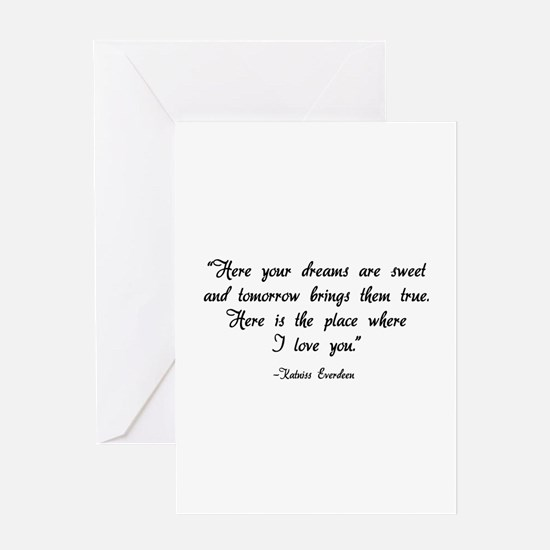 HG here your dreams are sweet .. Greeting Card