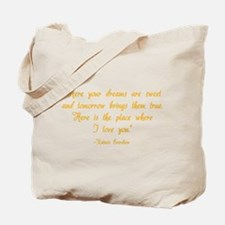 HG here your dreams are sweet .. Tote Bag