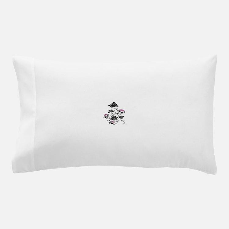 skull rose Pillow Case