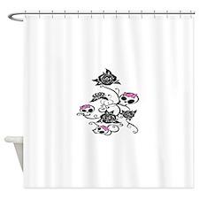 skull rose Shower Curtain