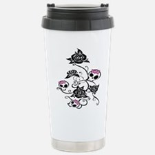 skull rose Travel Mug