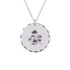 skull rose Necklace