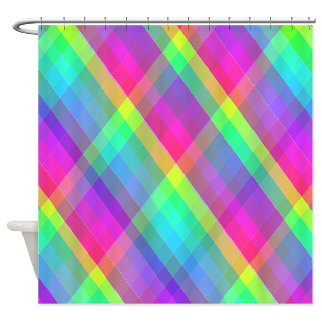 Colorful fun curtains shower curtain by homestylez Colorful shower curtains