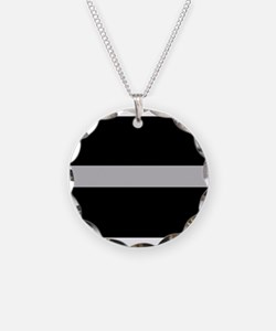 Corrections Thin Silver Line Necklace