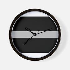 Corrections Thin Silver Line Wall Clock