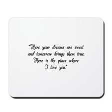 HG here your dreams are sweet .. Mousepad
