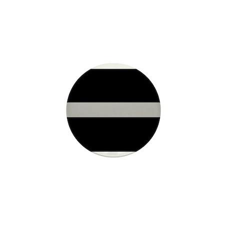 Corrections Thin Silver Line Mini Button