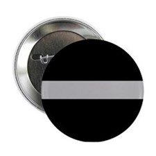 "Corrections Thin Silver Line 2.25"" Button"