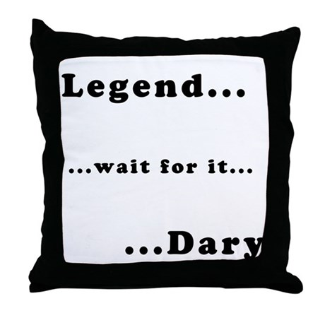 "Barney's ""Legendary"" Throw Pillow"